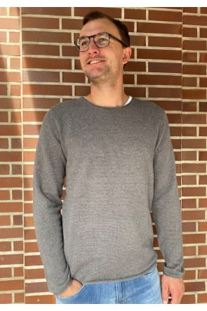 Selected Homme Crew neck pullover - Medium Grey